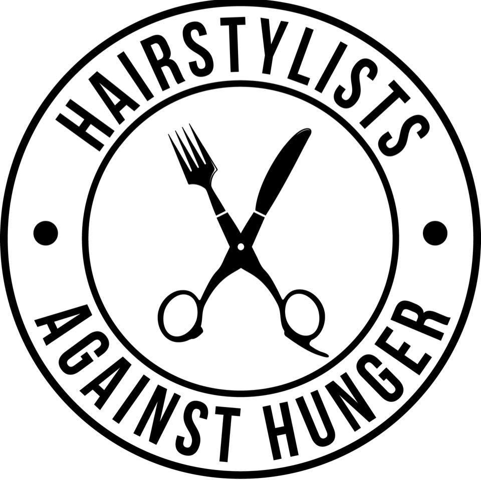 Hairstylists Against Hunger logo. Please request a high res file for your own use.