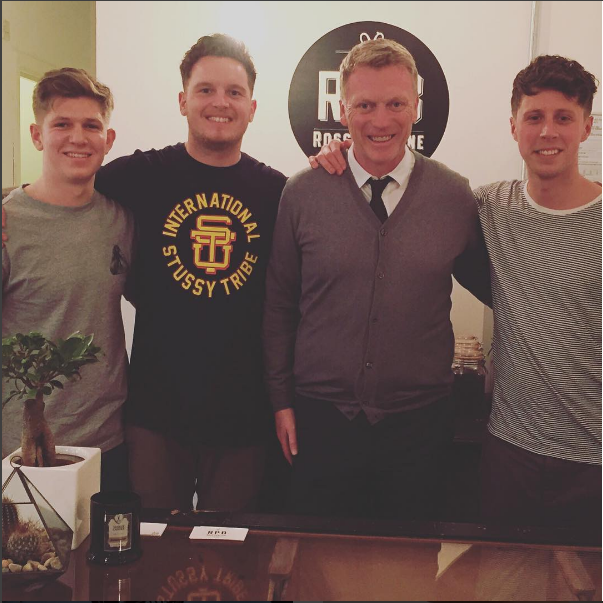 David Moyes visiting the shop