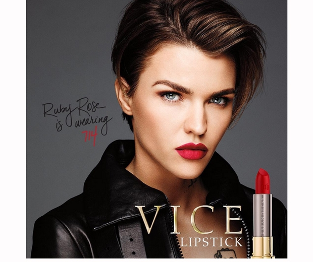 Ruby Rose, the face of Urban Decay's Vice Collection