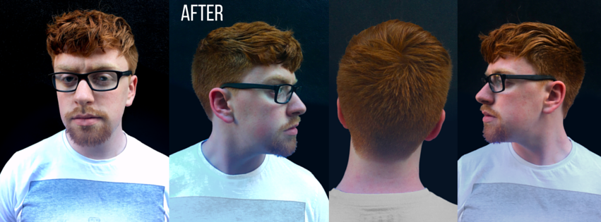 Conor's hair after