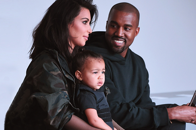 Kanye, Kim and daughter North