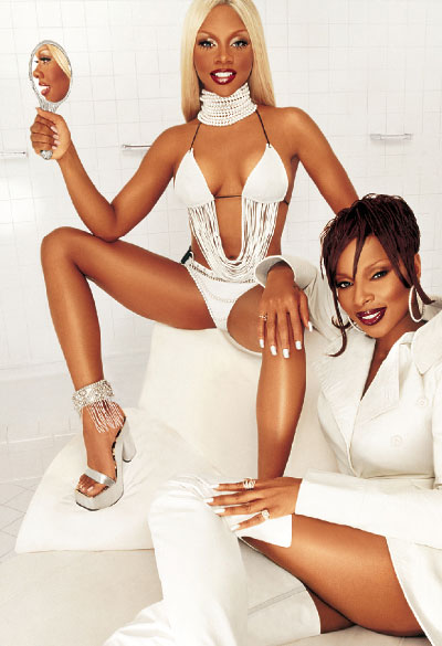 Mary j Blige and Lil Kim for Viva Glam