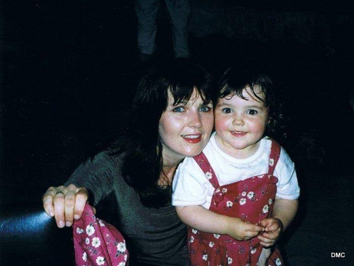 This is a photo of my mum and I when I was a tot. Do you think we look alike?
