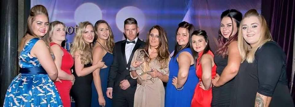 Peaches winning their Scottish Business Award 2016