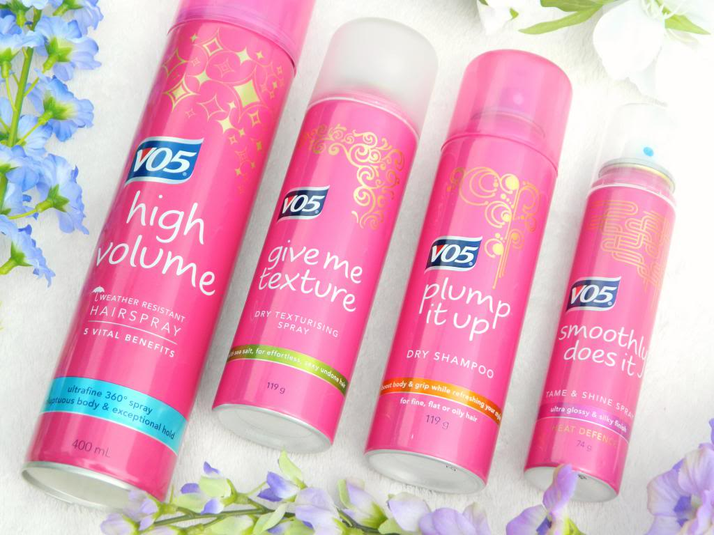 V05 are a good example of a brand who have a line of products for different hair styles. Including a texturising spray