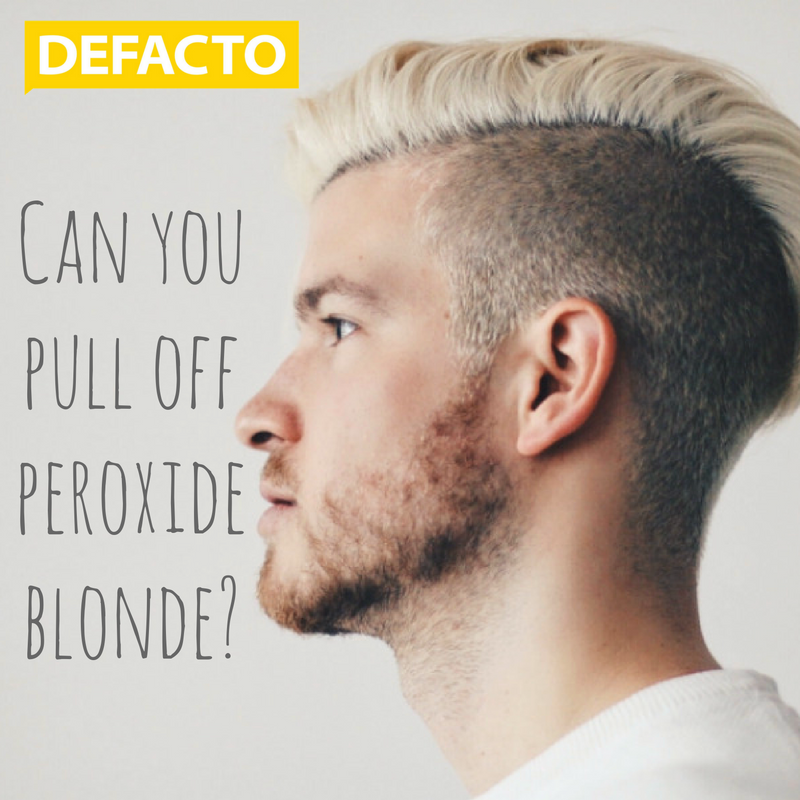 Can you pull off peroxide blonde?